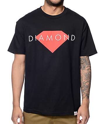 Diamond Supply Co Solid Black T-Shirt