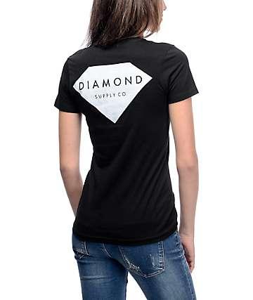 Diamond Supply Co Solid Stone Black T-Shirt