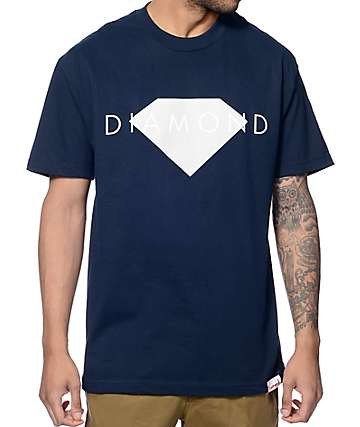 Diamond Supply Co Solid camiseta en azul marino