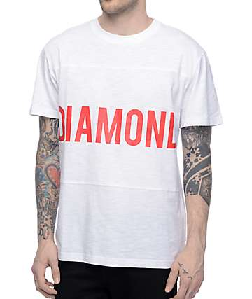Diamond Supply Co Speedway White Panel T-Shirt