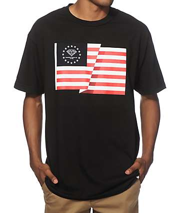 Diamond Supply Co Split Flag T-Shirt
