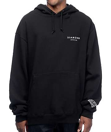 Diamond Supply Co Stone Cut Black Hoodie