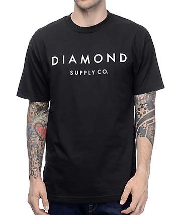 Diamond Supply Co Stone Cut Black T-Shirt