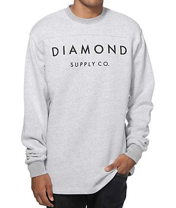 Diamond Supply Co Stone Cut Crew Neck Sweatshirt
