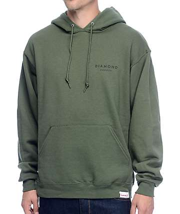 Diamond Supply Co Stone Cut Military Green Hoodie