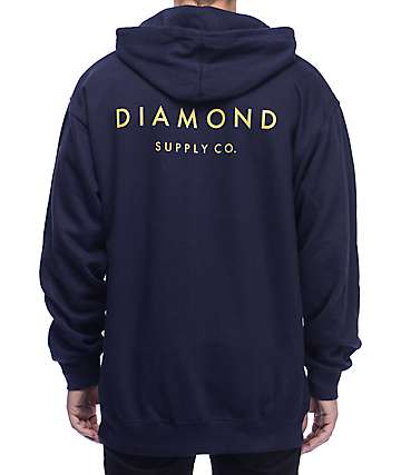 Diamond Supply Co Stone Cut Navy Hoodie
