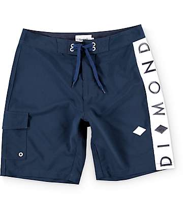 "Diamond Supply Co Stripe 19.5""  Board Shorts"
