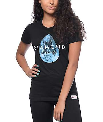 Diamond Supply Co Tear Drop Black T-Shirt