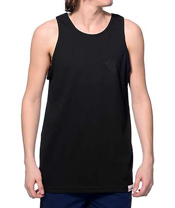 Diamond Supply Co Tonal Chest Black Tank Top