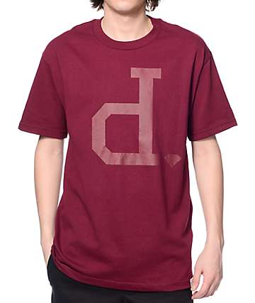 Diamond Supply Co Tonal Un-Polo Maroon T-Shirt