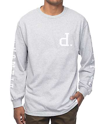 Diamond Supply Co Tonal Un-Polo camiseta de manga larga en gris