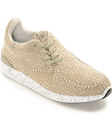 Diamond Supply Co Trek Low Tan Embossed Shoes