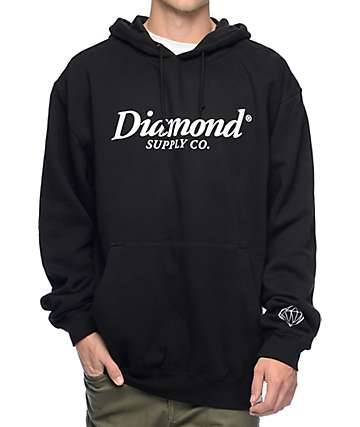 Diamond Supply Co Typeset Black Hoodie