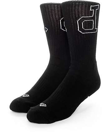 Diamond Supply Co Un-Polo Black & White Crew Socks