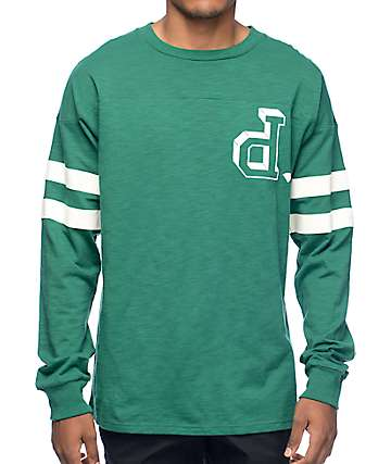 Diamond Supply Co Un-Polo Green Football Long Sleeve T-Shirt