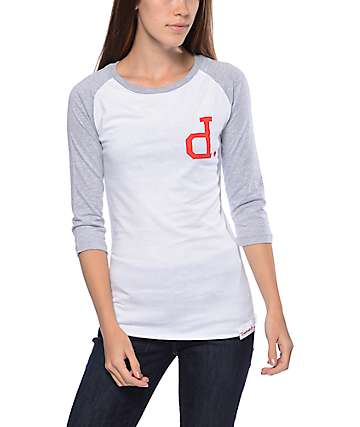 Diamond Supply Co Un-Polo Heather Grey Raglan T-Shirt