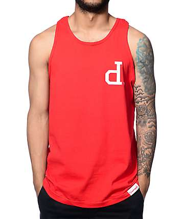 Diamond Supply Co Un-Polo Red Tank Top