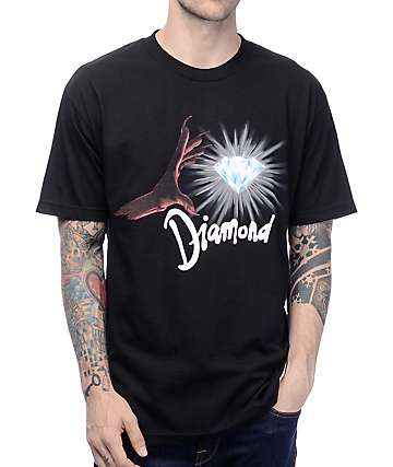 Diamond Supply Co Underworld Black & Red T-Shirt