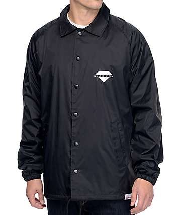 Diamond Supply Co Viewpoint Black Coaches Jacket