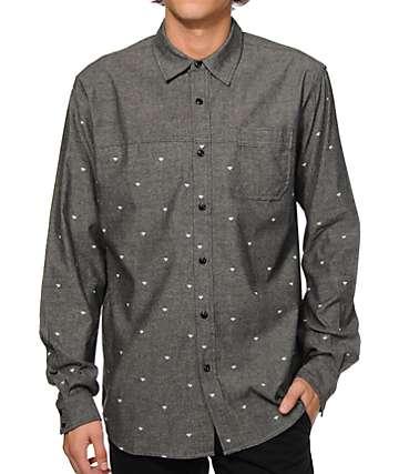 Diamond Supply Co Workshirt Long Sleeve Button Up Shirt