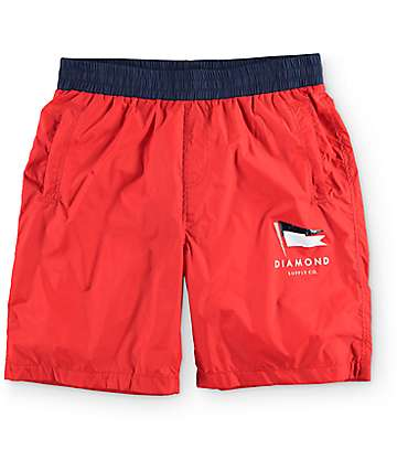 Diamond Supply Co Yacht Red Shorts