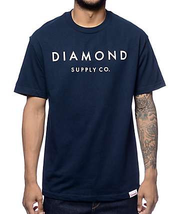 Diamond Supply Co Yacht Type Navy T-Shirt