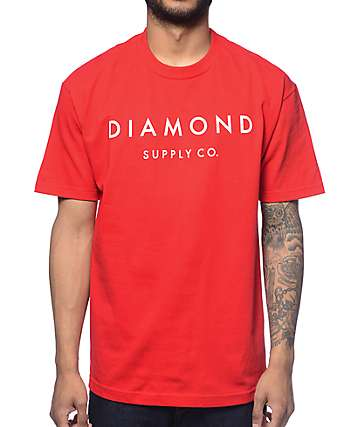 Diamond Supply Co Yacht Type Red T-Shirt