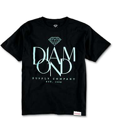Diamond Supply Co.  Boys Parisian Black T-Shirt