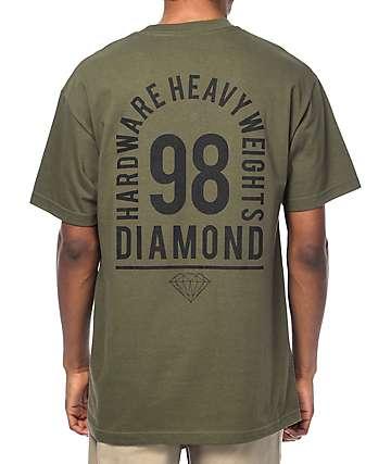 Diamond Supply Co. Access camiseta en verde militar
