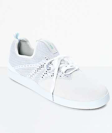 Diamond Supply Co. All Day zapatos de skate de ante en blanco