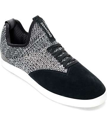 Diamond Supply Co. All Day zapatos de skate en blanco y negro