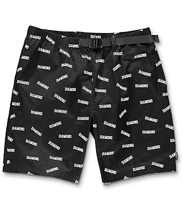 Diamond Supply Co. All Over Black Shorts