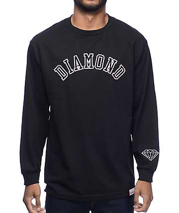 Diamond Supply Co. Arch Black Long Sleeve T-Shirt