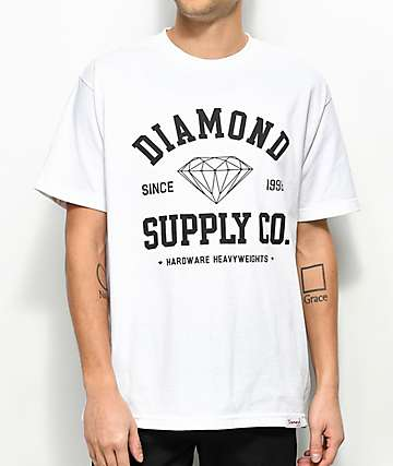 Diamond Supply Co. Athetic White T-Shirt