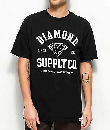 Diamond Supply Co. Athetic camiseta negra