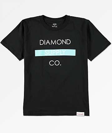 Diamond Supply Co. Bar Logo camiseta negra para niños