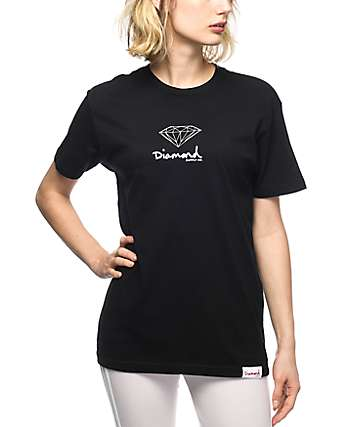 Diamond Supply Co. Black Mini OG Boyfriend T-Shirt