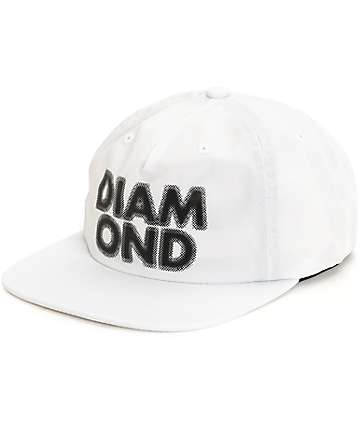Diamond Supply Co. Blur White Strap Back Hat