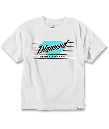 Diamond Supply Co. Boys Champs White T-Shirt