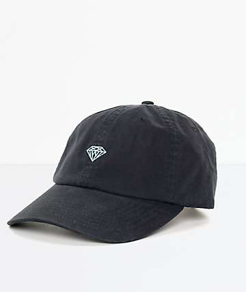 Diamond Supply Co. Brilliant Black & Blue Strapback Hat