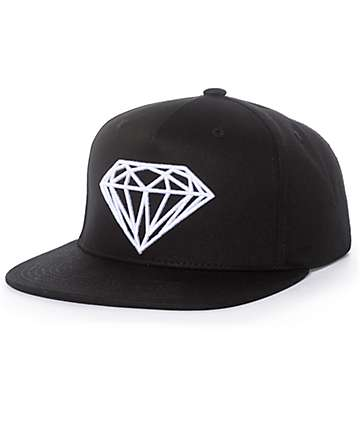 Diamond Supply Co. Brilliant Black & White Snapback Hat