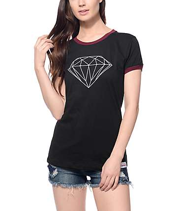 Diamond Supply Co. Brilliant Black Ringer T-Shirt