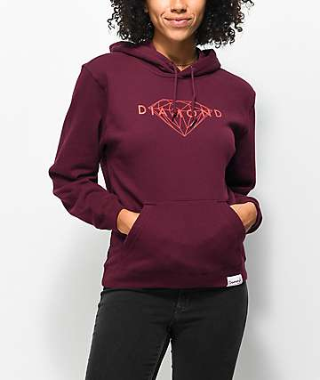 Diamond Supply Co. Brilliant Burgundy Hoodie