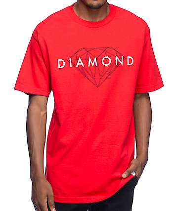 Diamond Supply Co. Brilliant Red T-Shirt