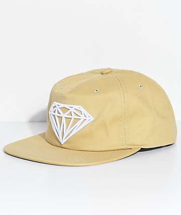 Diamond Supply Co. Brilliant Unstructured Khaki Snapback Hat