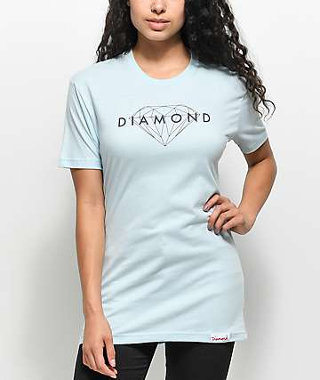 Diamond Supply Co. Brilliant camiseta en azul claro