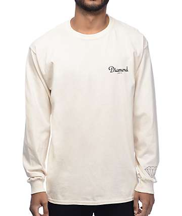 Diamond Supply Co. Champagne Cream Long Sleeve T-Shirt