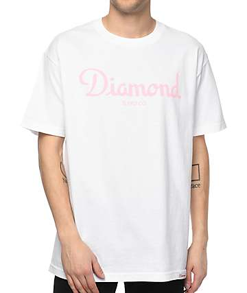 Diamond Supply Co. Champagne Sign White T-Shirt