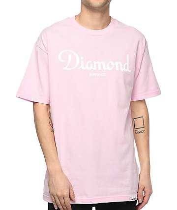Diamond Supply Co. Champagne Sign camiseta rosa