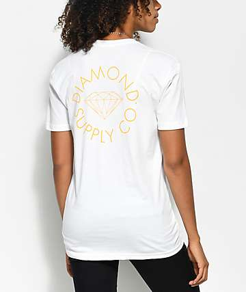 Diamond Supply Co. Circle Logo White T-Shirt